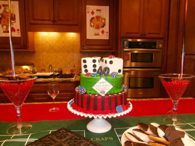 casino night cakes