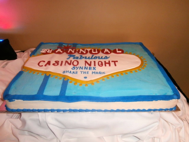 casino party cake