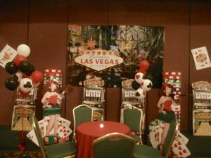 casino night theme decorations